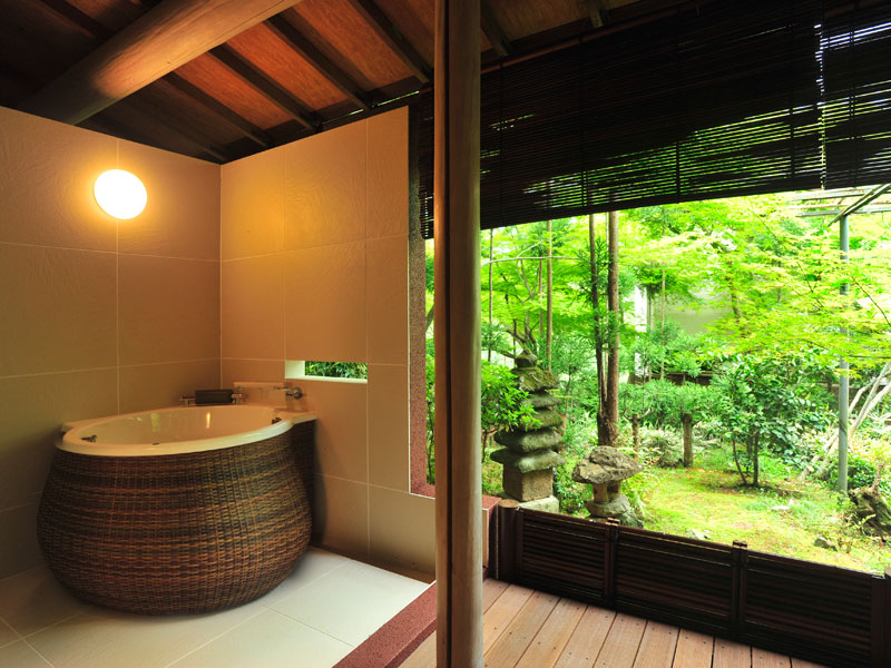 Delux room with open air bath