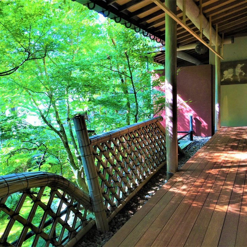 Japanese-Style Family Room with Terrace